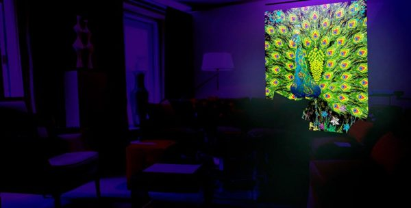 Blacklight Fluorescent uv-wallpapers, uv-tapestry