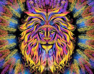 1*1,5 м Огнегривый лев 3 горизонтальный формат