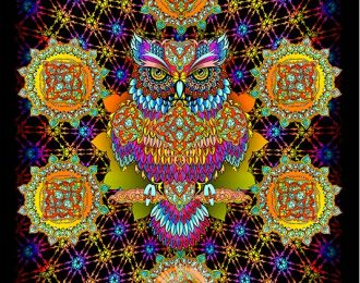 1*1,5 м Мудрая сова — оранжевый вариант