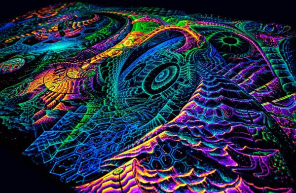 "Fluoro backdrop ""Singularity Microcosma"""