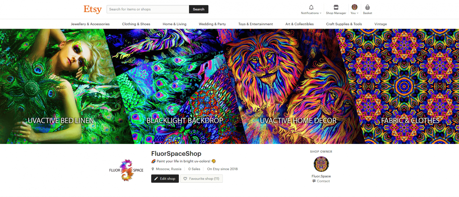 Fluor Space on Etsy