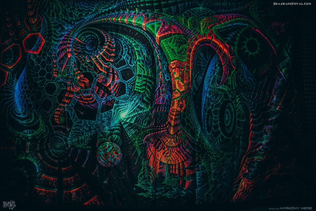 Ультрафиолетовые декорации, ультрафиолетовый декор для фестиваля Сказка