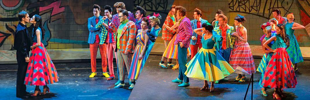 Мьюзикл Стиляги, флуоресцентные ткани для костюмов