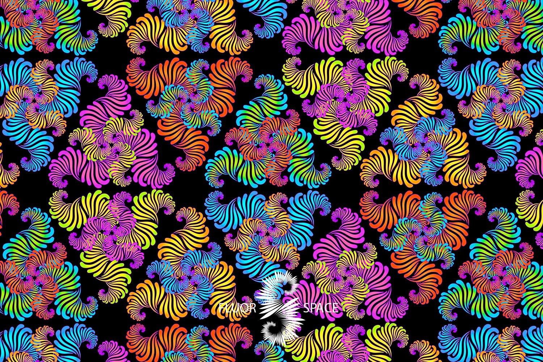 Spirals Флуоресцентные ткани, fluorescent uv-active fabrics