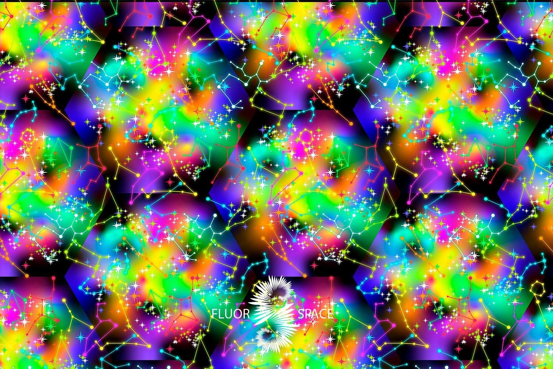 Space Флуоресцентные ткани, fluorescent uv-active fabrics