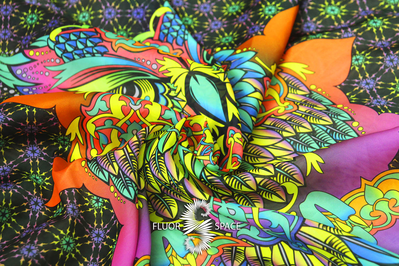 Owls Флуоресцентные ткани, fluorescent uv-active fabrics