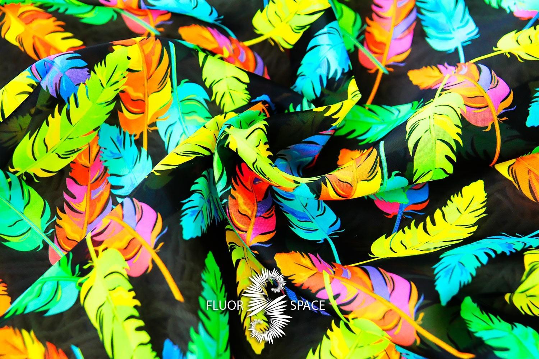 Feathers Флуоресцентные ткани, fluorescent uv-active fabrics