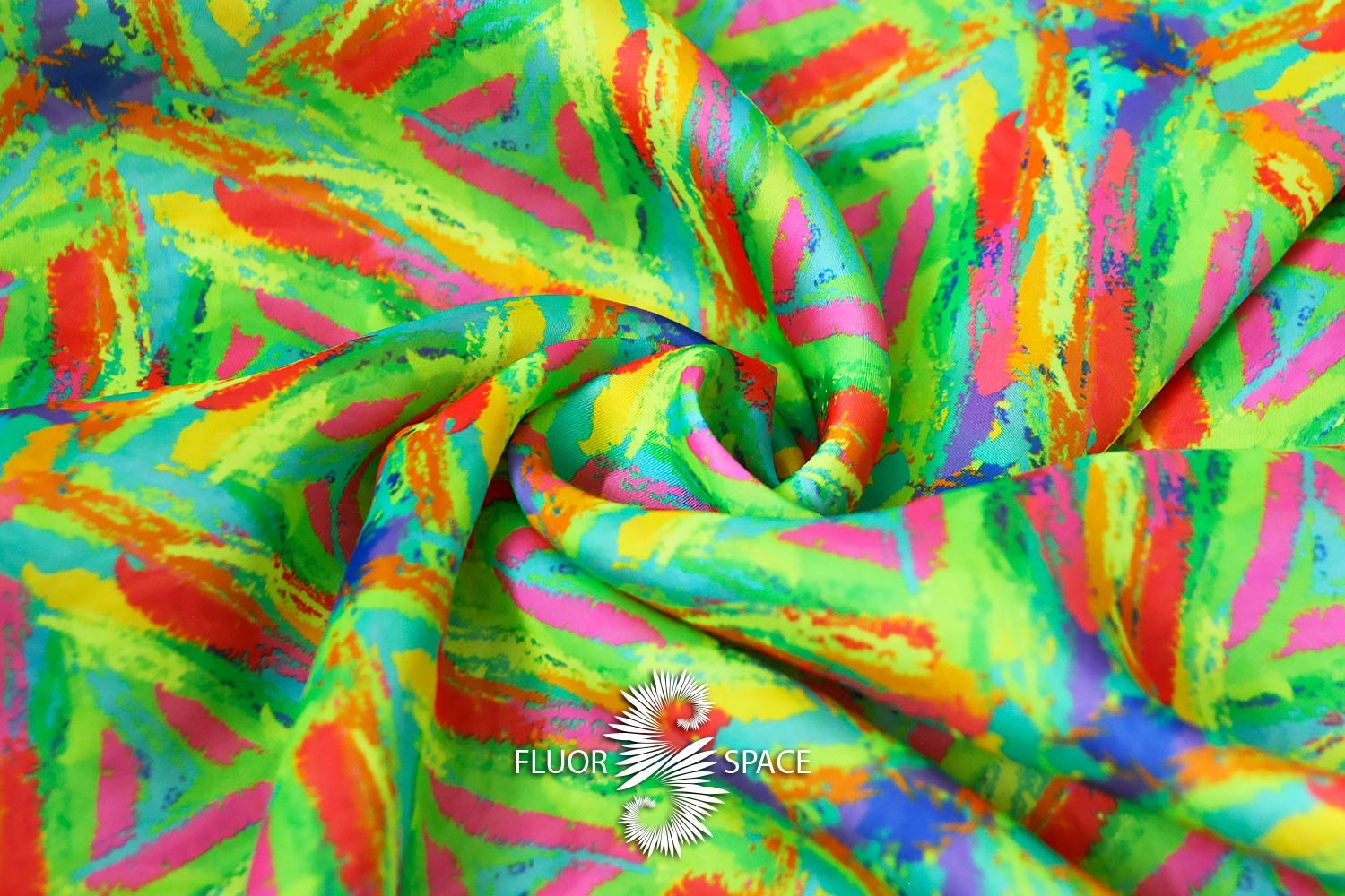brush strokes Флуоресцентные ткани, fluorescent uv-active fabrics