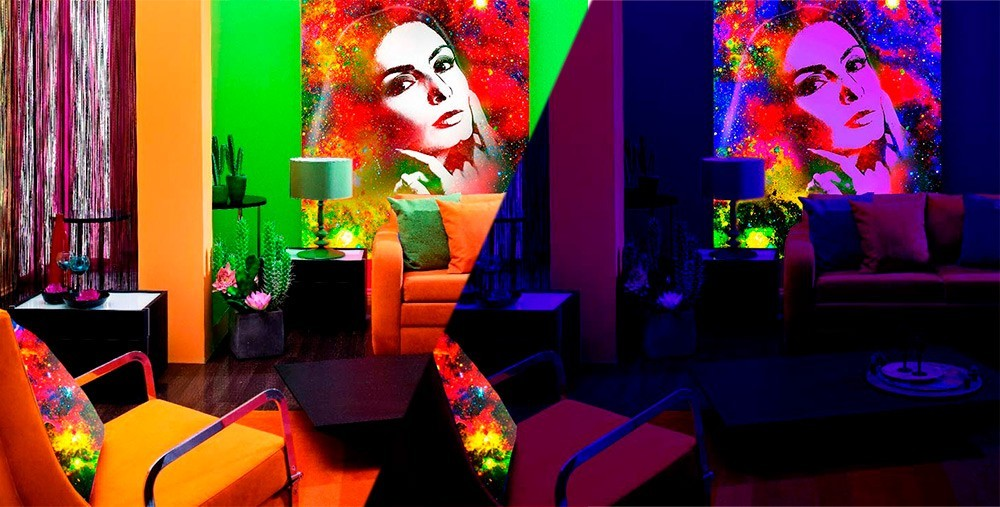 Флуоресцентный портрет в стиле Flip-Flop