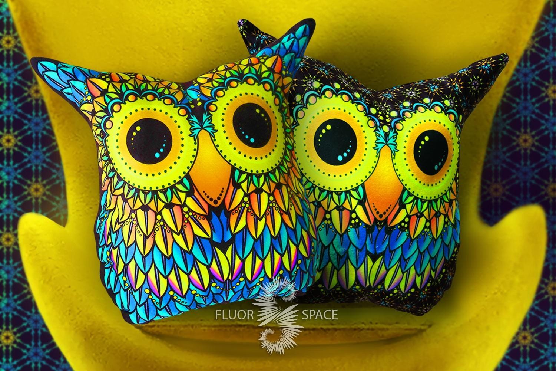 Флуоресцентные игрушки совы