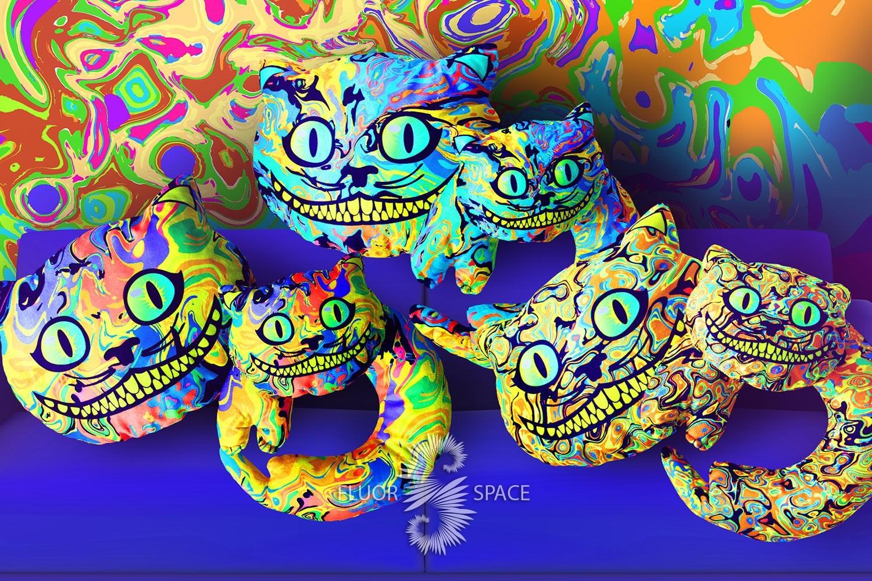 флуоресцентные чеширские коты