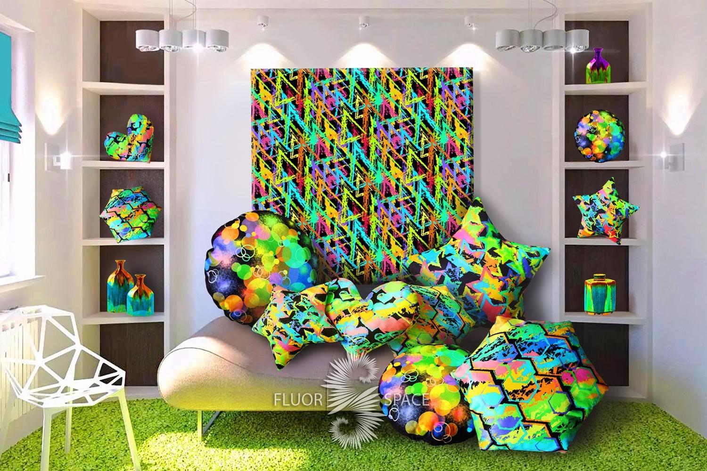 Флуоресцентные декоративные подушки, декорФлуоресцентные декоративные подушки, декор