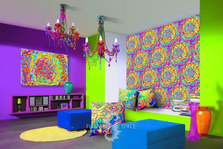 Флуоресцентные декоративные подушки, декор