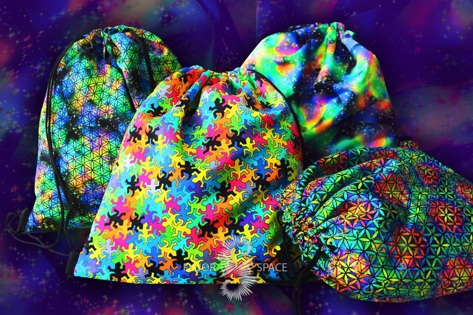 Флуоресцентные рюкзаки, мешки, сумки