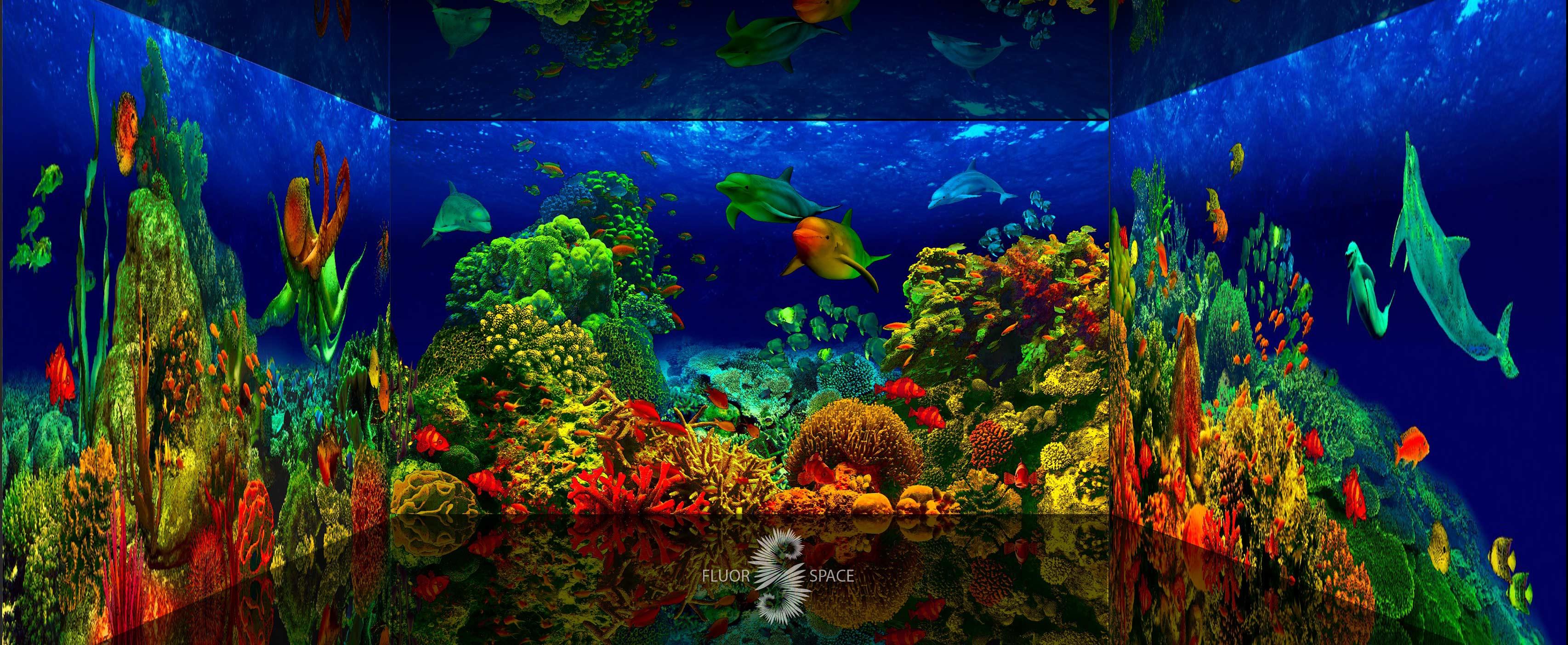 Подводный мир - флуоресцентные хроматические 3D декорации