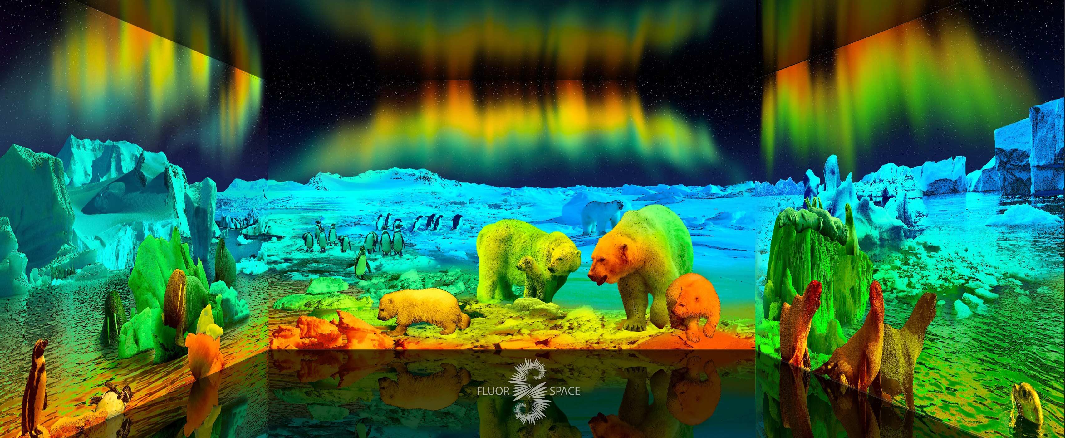 Северное сияние - флуоресцентные хроматические 3D декорации