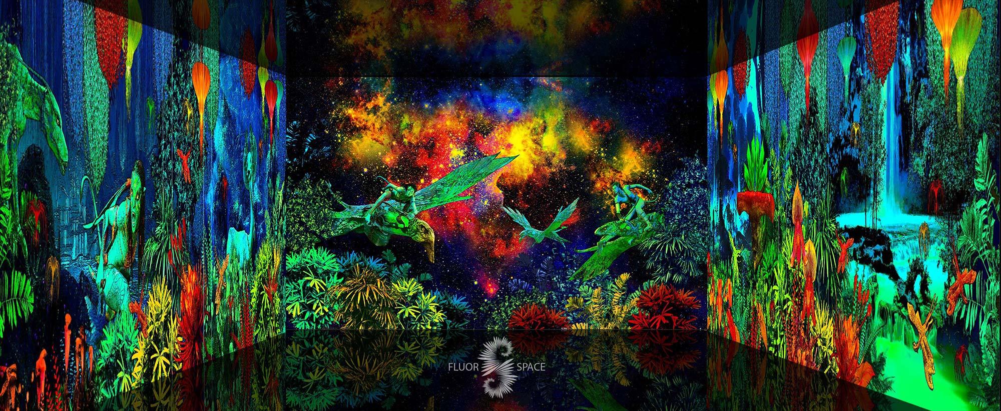 Инопланетные джунгли - флуоресцентные хроматические 3D декорации