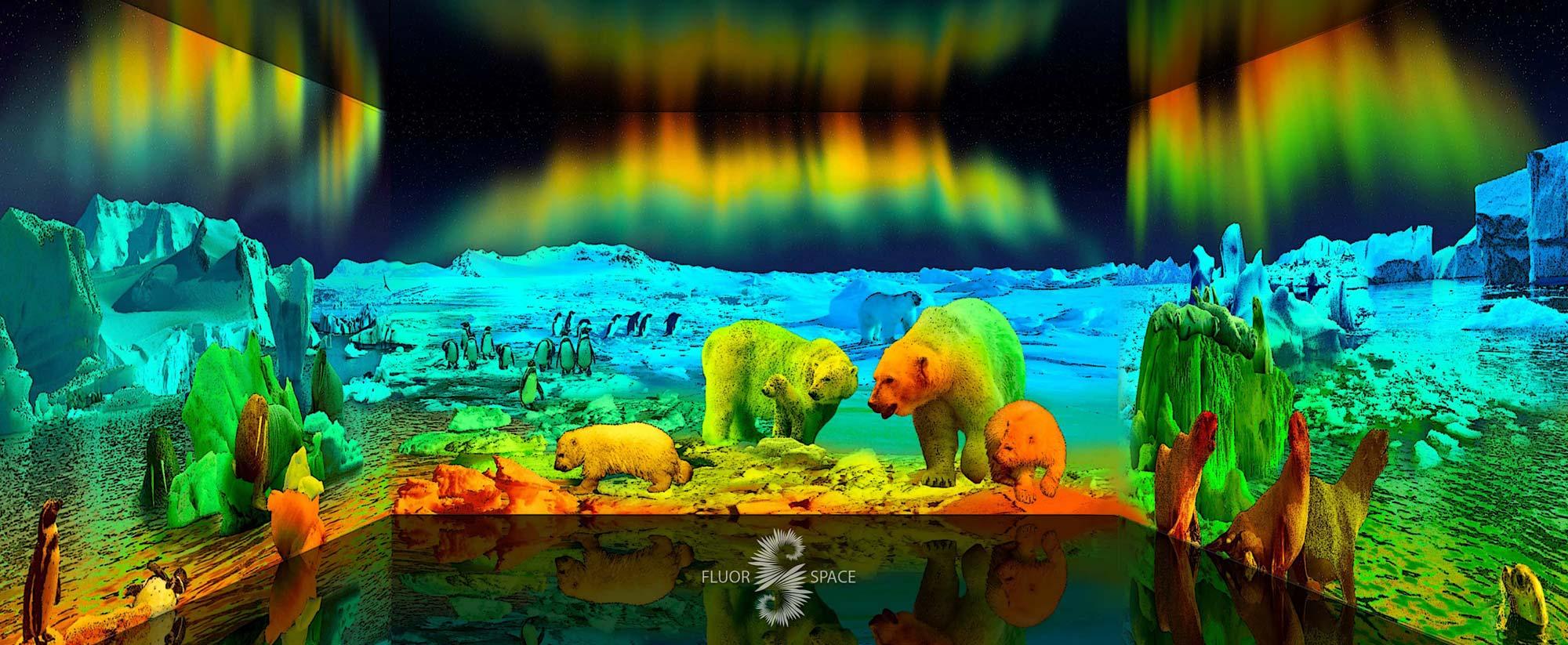 Полярное сияние - флуоресцентные хроматические 3D декорации