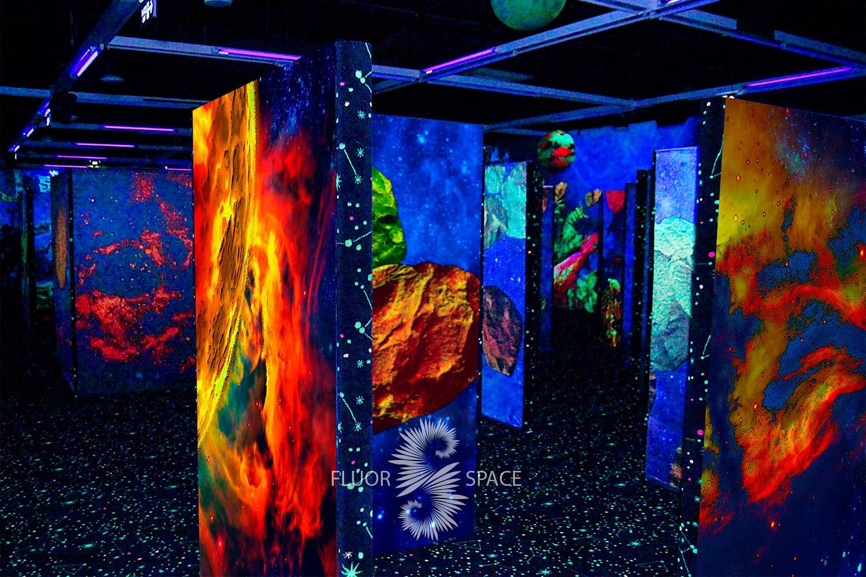 MEGAZAR флуоресцентные хроматические 3D декорации
