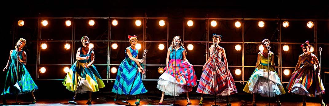 Мюзикл Стиляги, флуоресцентные ткани для костюмов