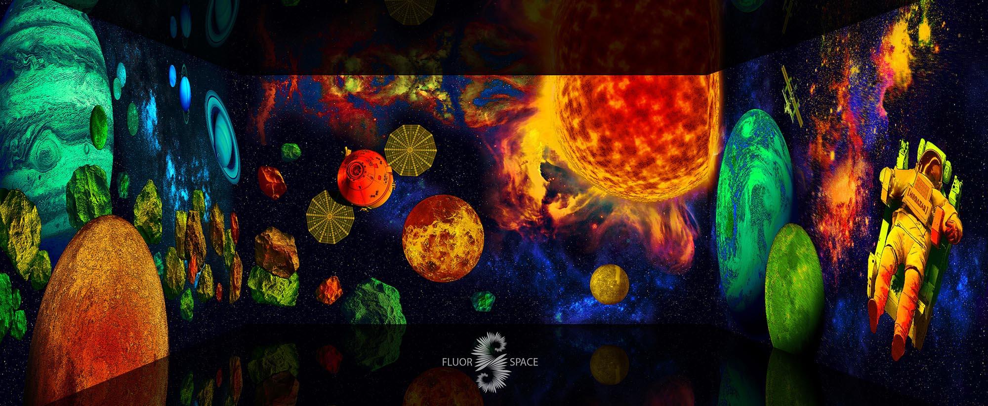 Солнечная система - флуоресцентные хроматические 3D декорации