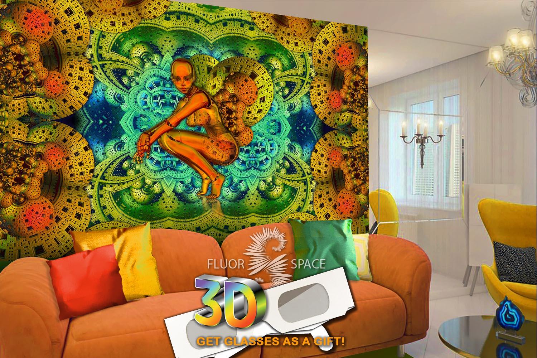 Флуоресцентные декоративные 3D полотна