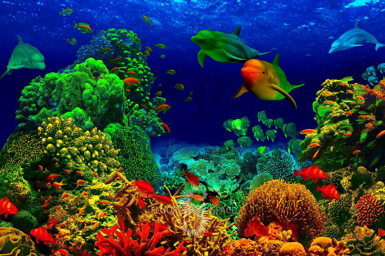 Неоновые 3D декорации Подводный мир